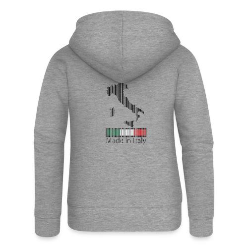 Made in Italy - Felpa con zip premium da donna