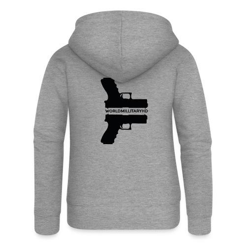 WorldMilitaryHD Glock design (black) - Vrouwenjack met capuchon Premium