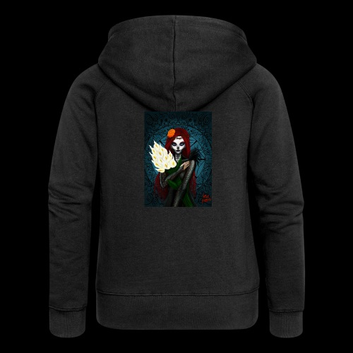 Death and lillies - Women's Premium Hooded Jacket
