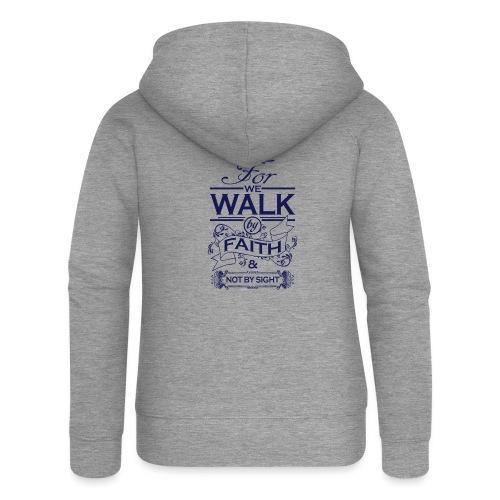 walk navy - Women's Premium Hooded Jacket