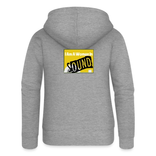 I am a woman in sound - yellow - Women's Premium Hooded Jacket