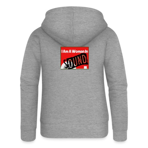 I am a woman in sound - red - Women's Premium Hooded Jacket