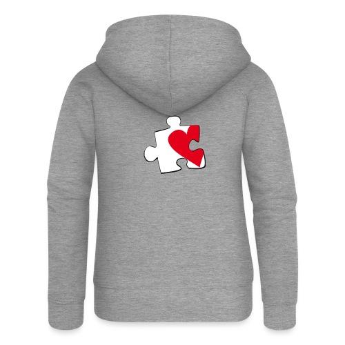 HEART 2 HEART HER - Felpa con zip premium da donna