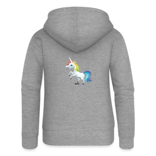 Rainbow enhjørning - Premium hettejakke for kvinner