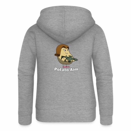 Mrs Potato Aim - Women's Premium Hooded Jacket