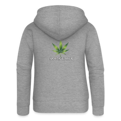 Marijuana - Frauen Premium Kapuzenjacke