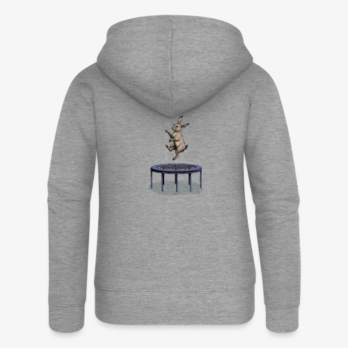 Rabbit Trampoline - Women's Premium Hooded Jacket