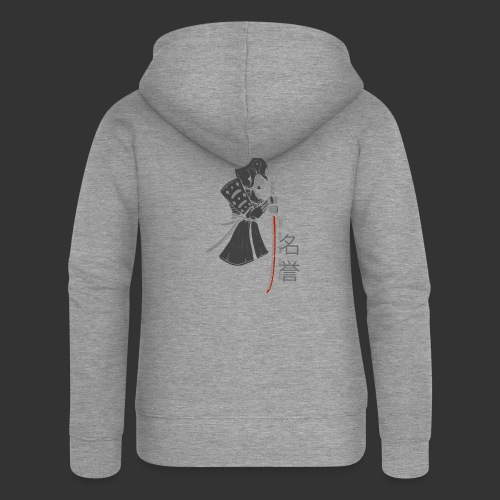 Samurai Digital Print - Women's Premium Hooded Jacket