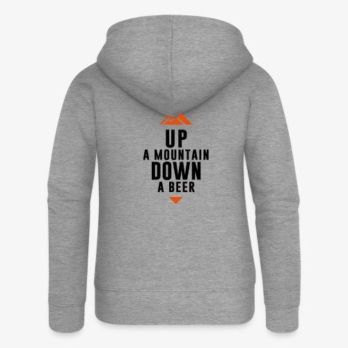 UP Mountain Down Beer - Veste à capuche Premium Femme