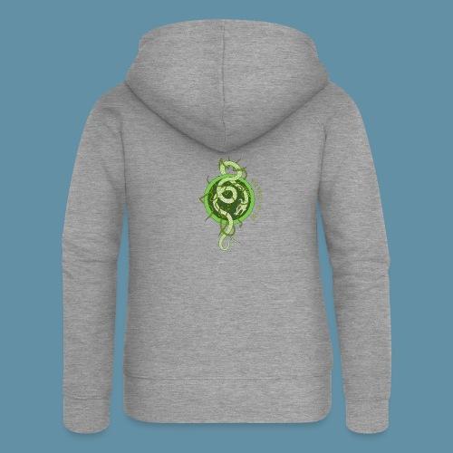 Jormungand logo png - Felpa con zip premium da donna