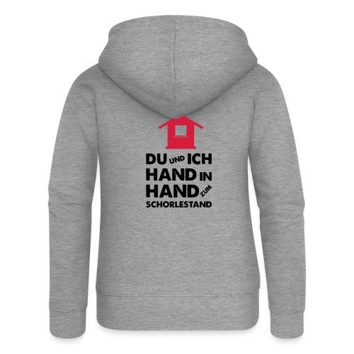 Hand in Hand zum Schorlestand / Gruppenshirt - Frauen Premium Kapuzenjacke