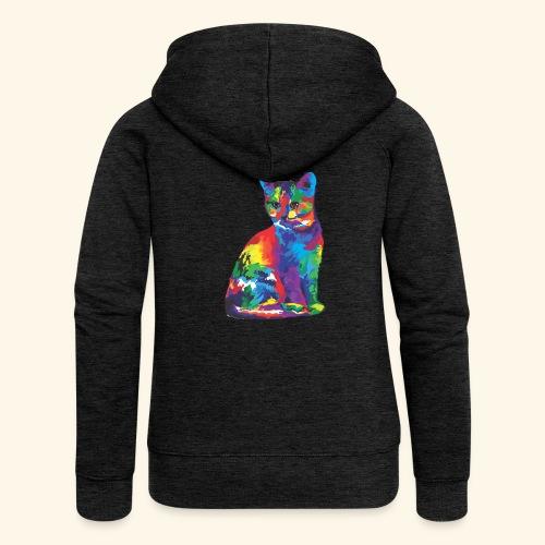 Gato fantástico - Chaqueta con capucha premium mujer