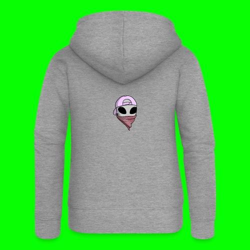 gangsta alien logo - Felpa con zip premium da donna