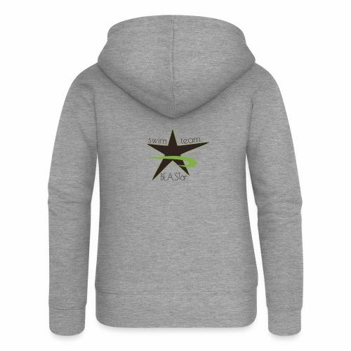 BeAStar BeAStar noStar grey green - Frauen Premium Kapuzenjacke
