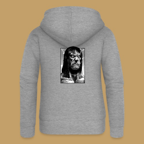 Frankenstein's Monster - Rozpinana bluza damska z kapturem Premium