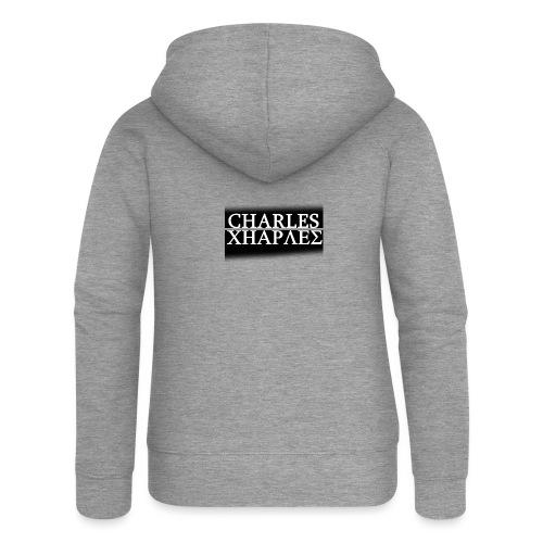 CHARLES CHARLES BLACK AND WHITE - Women's Premium Hooded Jacket