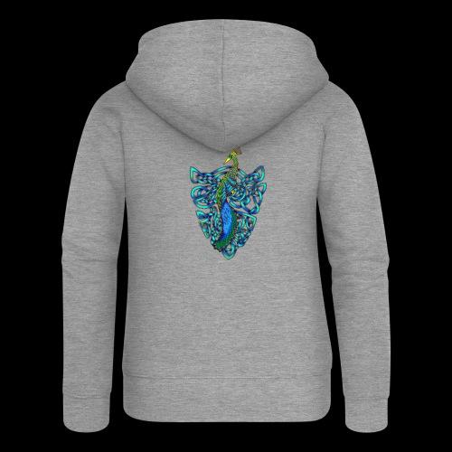 Peacock - Women's Premium Hooded Jacket