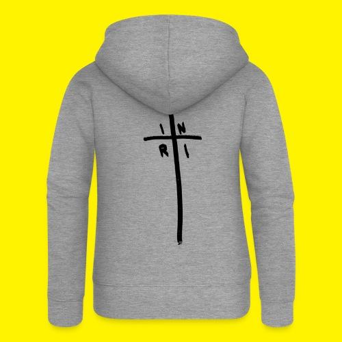 Cross - INRI (Jesus of Nazareth King of Jews) - Women's Premium Hooded Jacket
