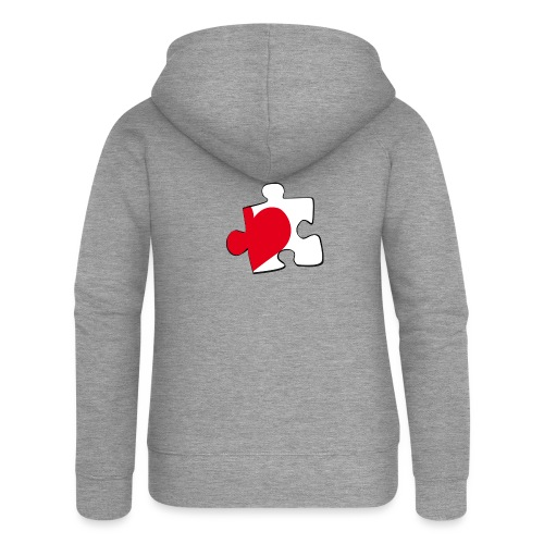 HEART 2 HEART HIS - Felpa con zip premium da donna