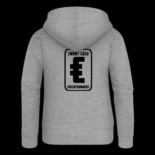 ZwartGeld Logo Sweater - Vrouwenjack met capuchon Premium