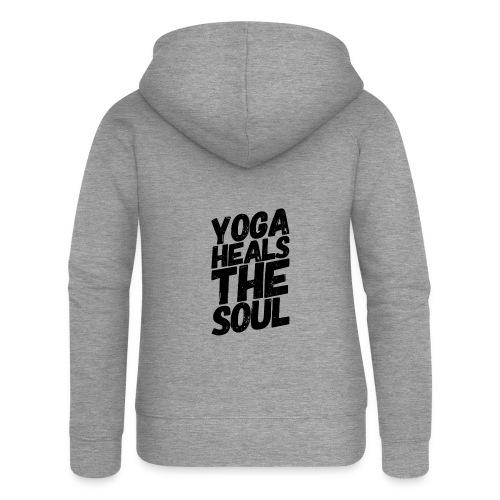 yoga heals the soul - Vrouwenjack met capuchon Premium