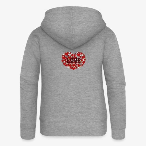 Stokrotne serce - Rozpinana bluza damska z kapturem Premium