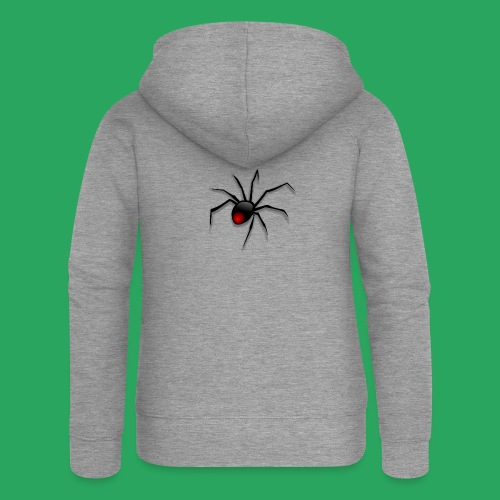 spider logo fantasy - Felpa con zip premium da donna