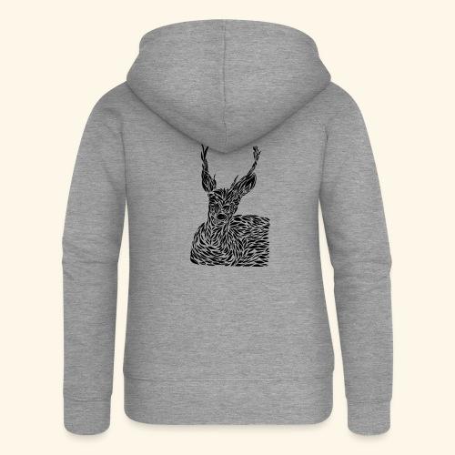 deer black and white - Naisten Girlie svetaritakki premium