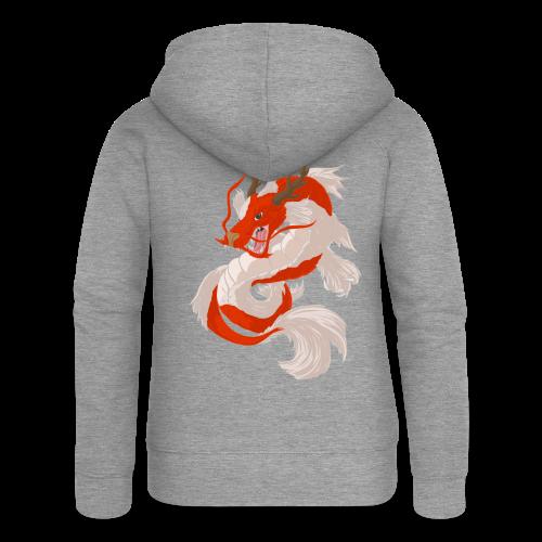 Dragon koi - Felpa con zip premium da donna