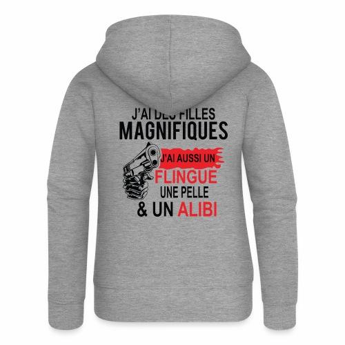 J'AI DEUX FILLES MAGNIFIQUES Best t-shirts 25% - Veste à capuche Premium Femme
