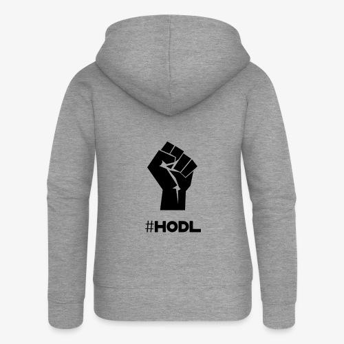 HODL-fist-b - Women's Premium Hooded Jacket