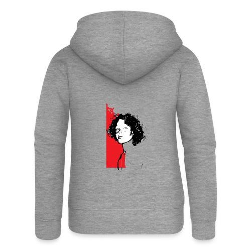 L'enfant rouge représente la terre rouge d'Afrique - Veste à capuche Premium Femme
