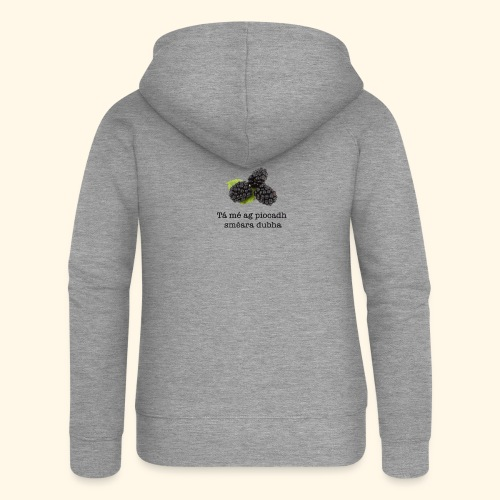 Picking blackberries - Women's Premium Hooded Jacket