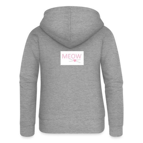 MEOW - Rozpinana bluza damska z kapturem Premium