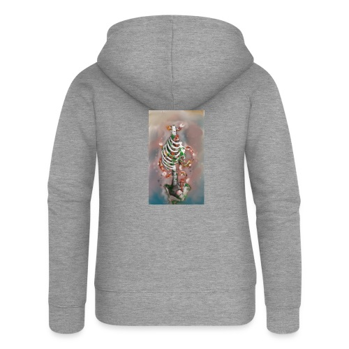 scheletrokoi - Felpa con zip premium da donna
