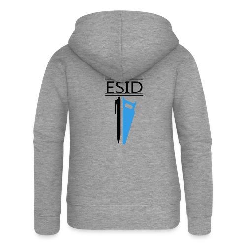ESID Zwart-blauw - Vrouwenjack met capuchon Premium