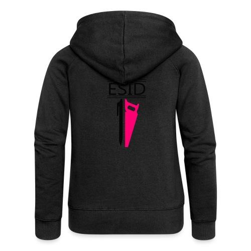 ESID Zwart-roze - Vrouwenjack met capuchon Premium