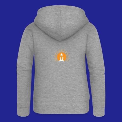 Guramylyfe logo white no text - Women's Premium Hooded Jacket