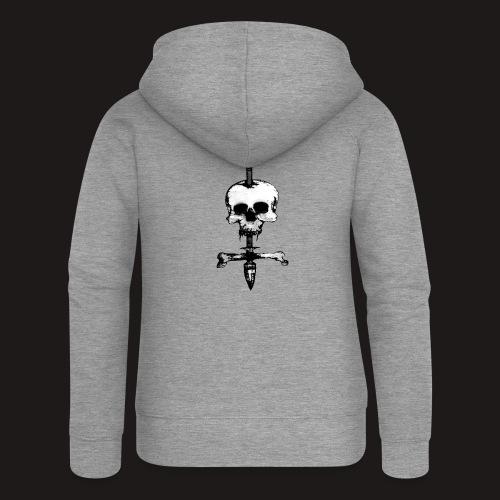 Skull Symbol - Frauen Premium Kapuzenjacke