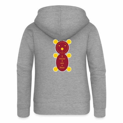 I swear I am a bear 001 - Vrouwenjack met capuchon Premium