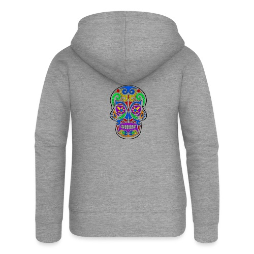 Abstract colorful skull - Felpa con zip premium da donna