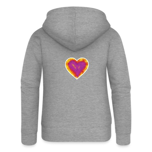 Stitched Heart - Women's Premium Hooded Jacket