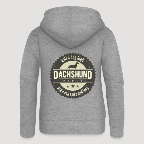 Dachshund Power - Vrouwenjack met capuchon Premium
