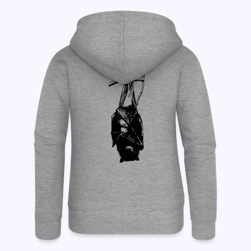 HangingBat schwarz - Frauen Premium Kapuzenjacke