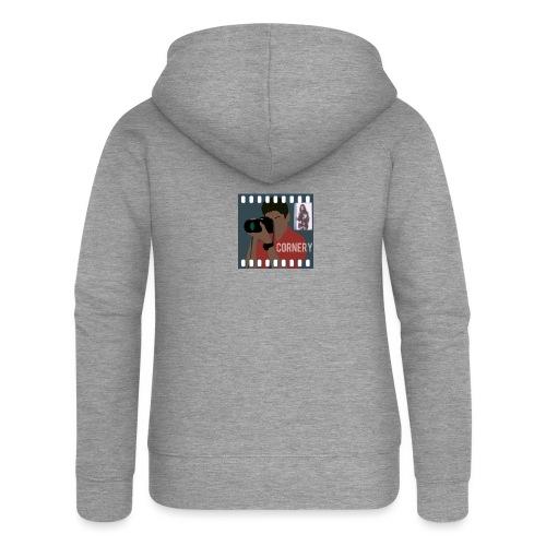 cornery - Felpa con zip premium da donna