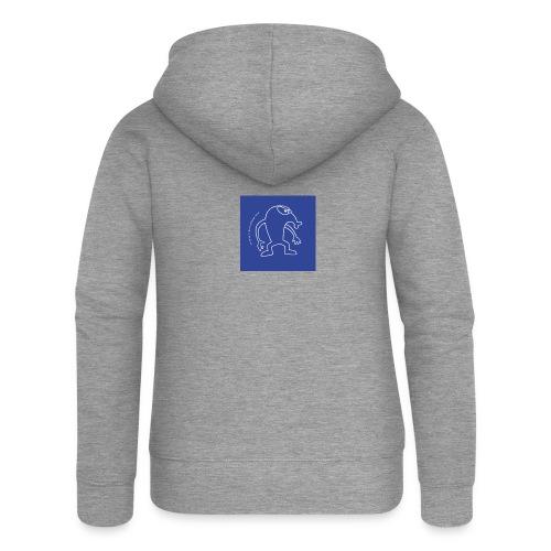 button vektor blau - Frauen Premium Kapuzenjacke