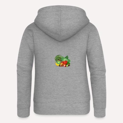 Vegetarian or vegetables lover? Print Design - Women's Premium Hooded Jacket