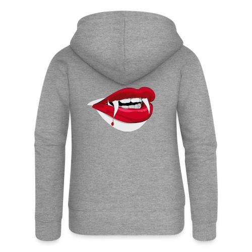 Vampire lips - Frauen Premium Kapuzenjacke