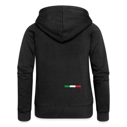 Info Italy Design - Felpa con zip premium da donna