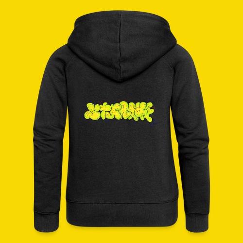 Strange Graffiti - Rozpinana bluza damska z kapturem Premium